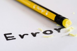 Erase The Word Error With A Rubber Concept Of Eliminating The Er