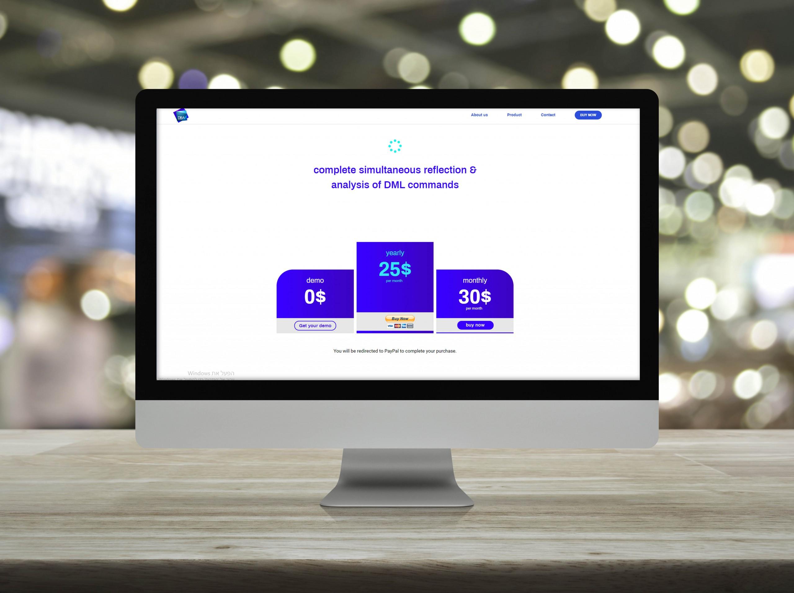 Wi-fi Flat Icon On Desktop Modern Computer Monitor Screen On Woo
