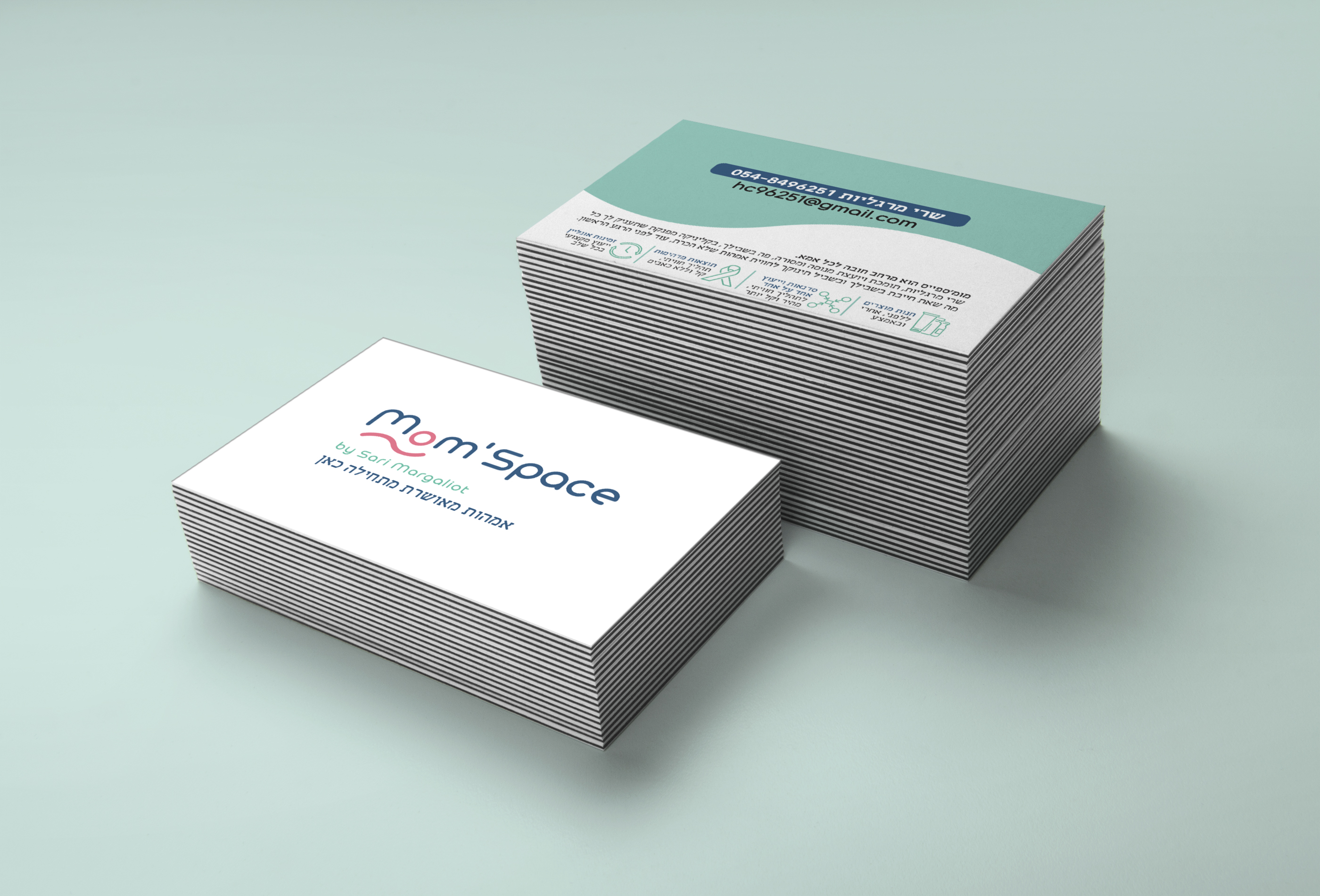 Stack Letterpress Business Card MockUp